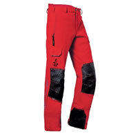 PFANNER STRETCH-AIR Arborist zaagbroek mt. XL ROOD